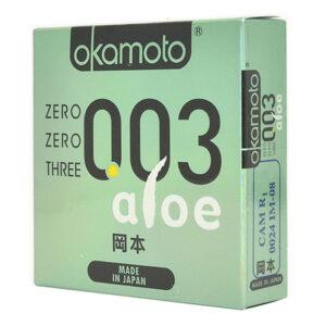 Bao cao su siêu mềm mại Okamoto 0.03 Aloe