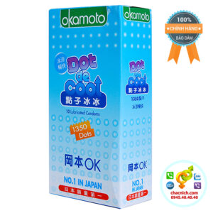 Bao Cao Su Siêu Gai Mát Lạnh Okamoto Dot De Cool