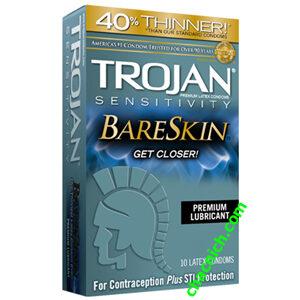 Bao Cao Su Siêu Mỏng Trojan Sensitivity BareSkin