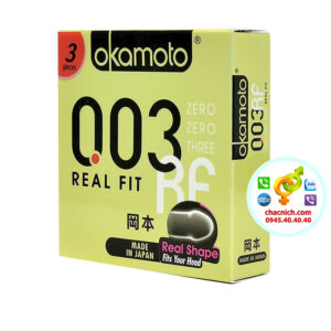 Bao cao su Okamoto 0.03 Real Fit Mỏng