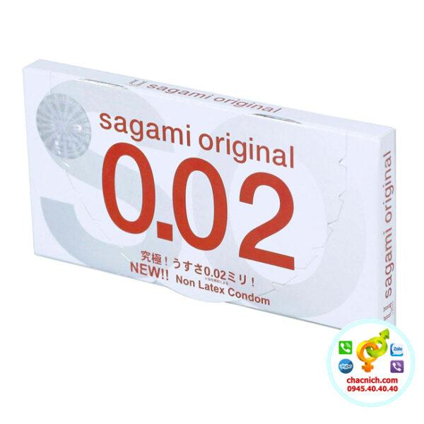 Bao Cao Su Cao Cấp Sagami Original 0.02