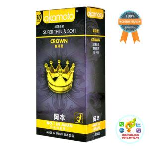 Bao Cao Su Siêu Mỏng Okamoto Crown