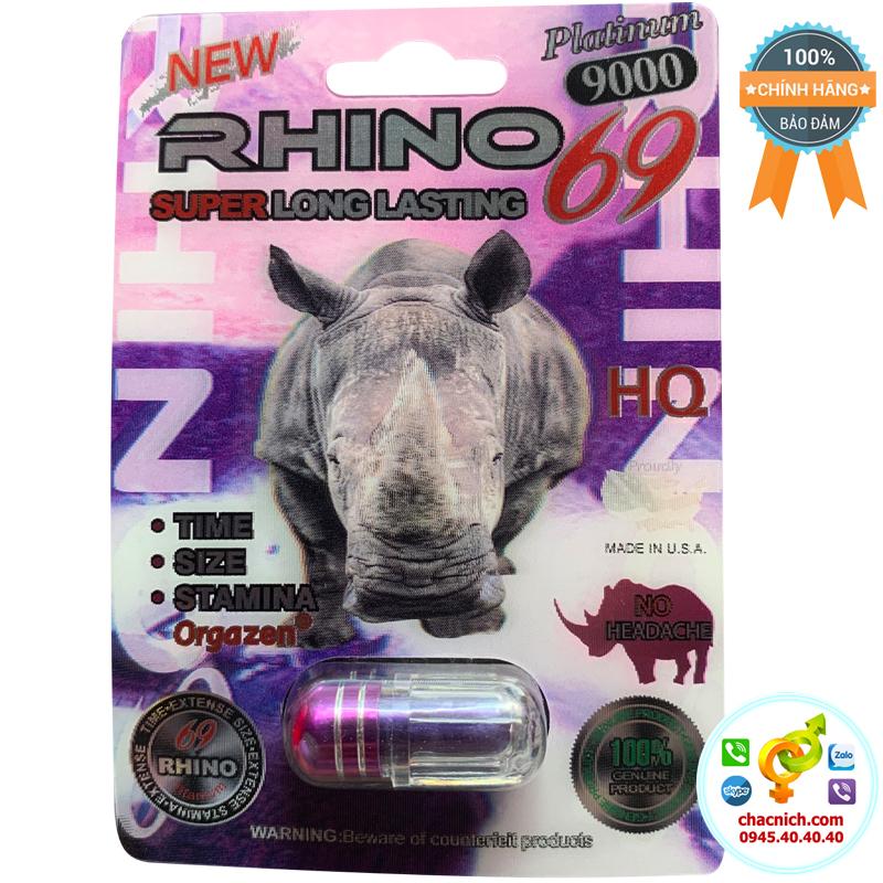 Viên uống chống xuất tinh sớm Rhino 69