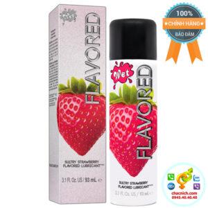 Gel bôi trơn hương dâu wet flavored strawberry