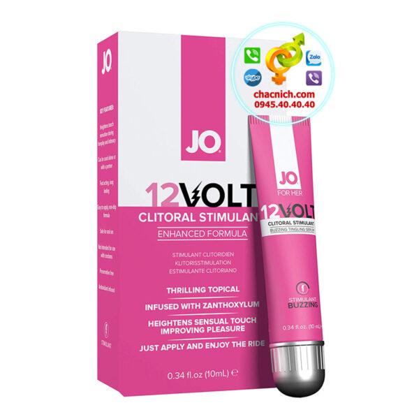 gel bôi trơn hỗ trợ tăng khoái cảm nữ jo 12 volt