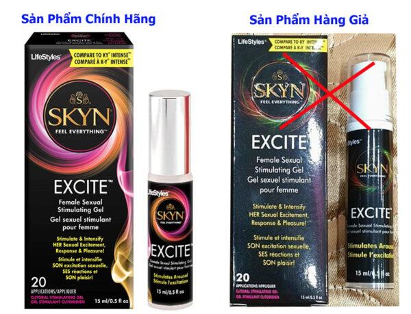 Cách phân biệt sản phẩm gel tăng khoái cảm nữ Lifestyles Excite hàng chính hãng và hàng nhái