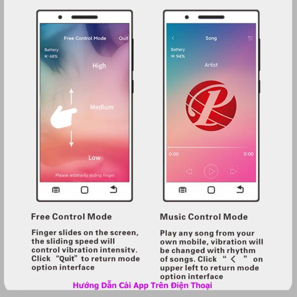 trứng rung không dây điều khiển bằng app điện thoại